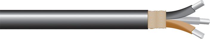 Image of AL 3-core waveform-LSOH Cu sne cable